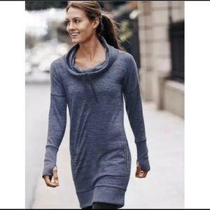 Athleta Sport It Cowl Neck Sweater Dress Small